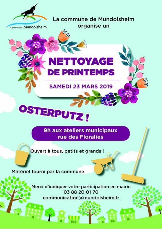 2019 03 05 nettoyage de printemps a mundolsheim